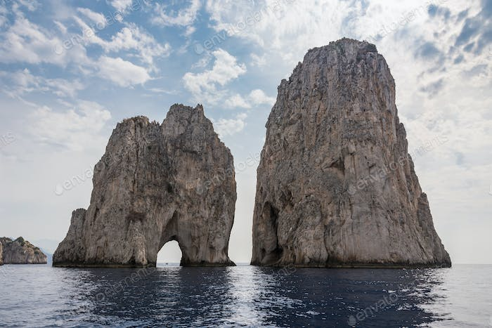 Faraglioni rocks at Capri Island coast