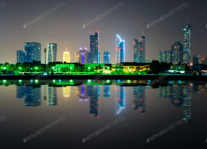 Dubai downtown skyline with tallest skyscrapers, Dubai, United Arab Emirates