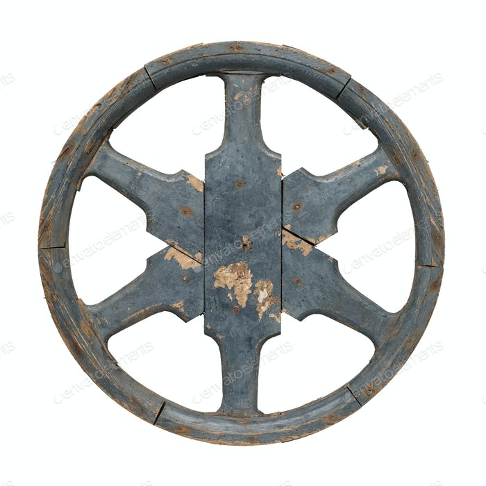 Old waggon wheel