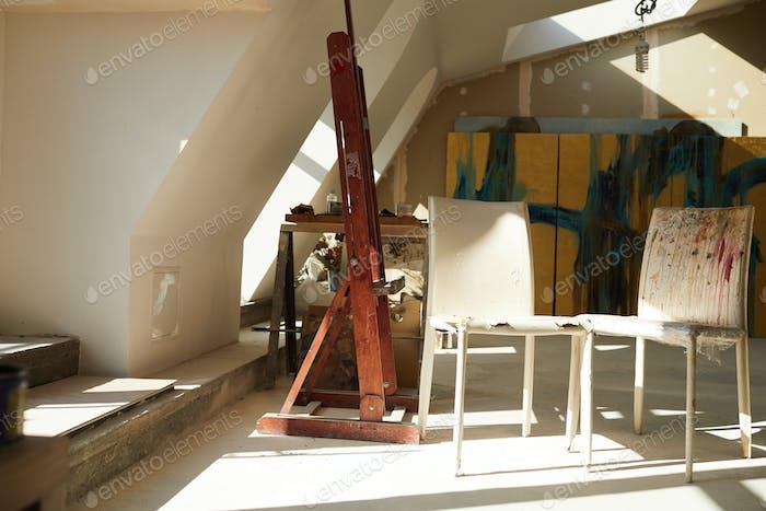 Attic Art Studio Interior
