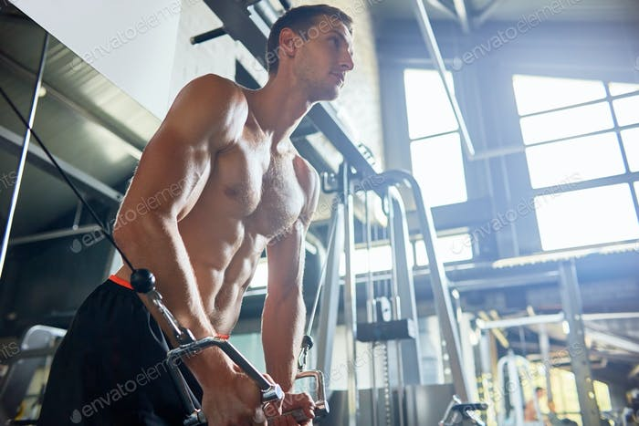 Handsome Sportsman in Gym