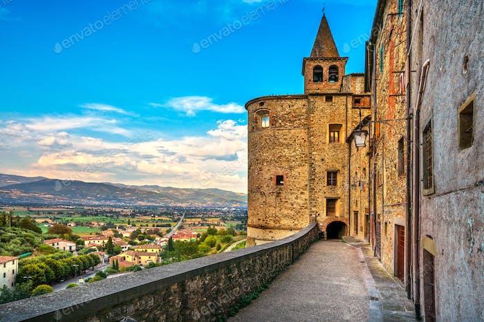 Anghiari mittelalterlichen Dorfmauern. Arezzo, Toskana Italien