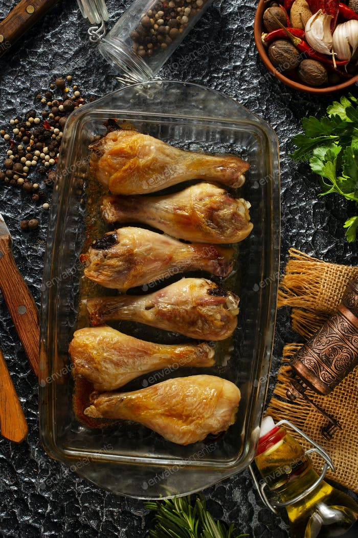 gebackenes Huhn