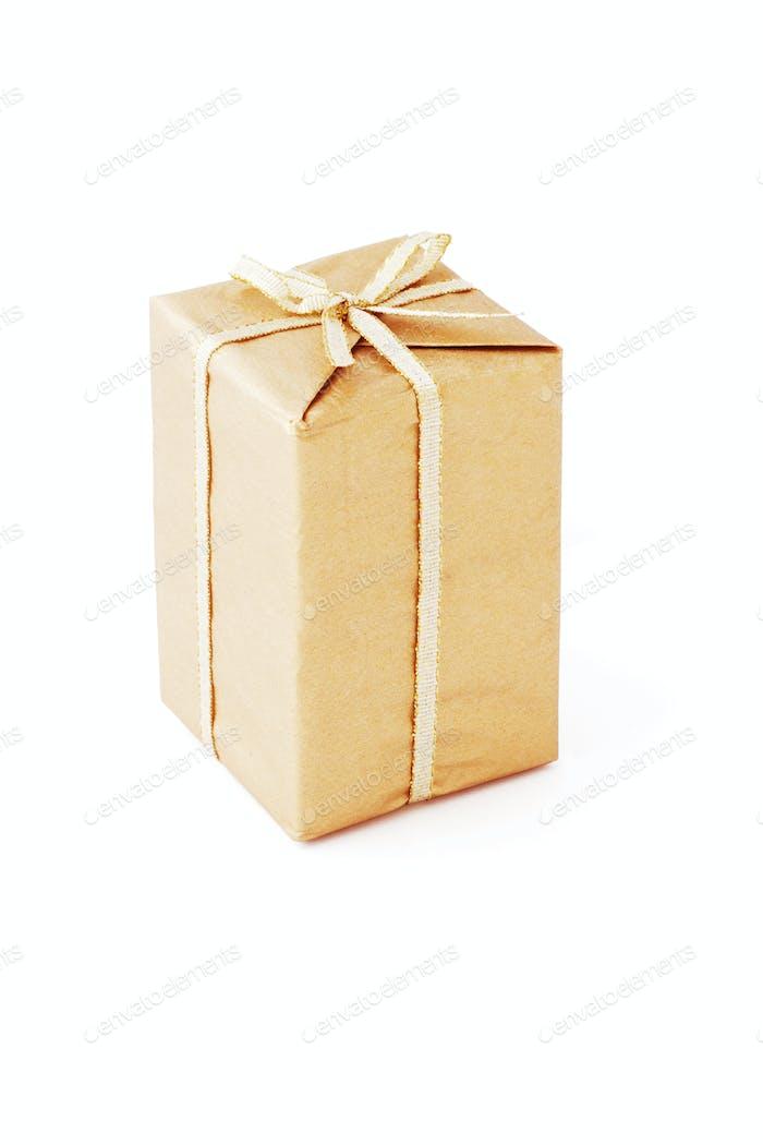 Brown color gift box