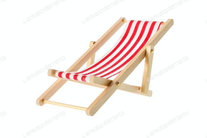 Striped deck chair