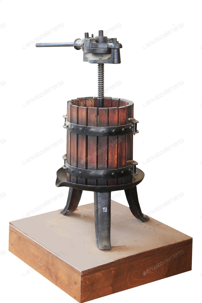old press for pressing grapes