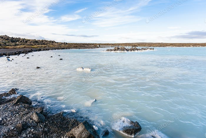 Blue Lagoon Geothermal lake in Grindavik field