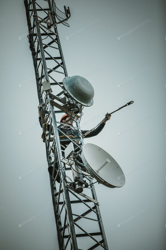 Telecom Worker Cliping Carabiner Harness for Safety