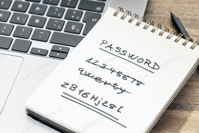 Strong and weak easy Password concept