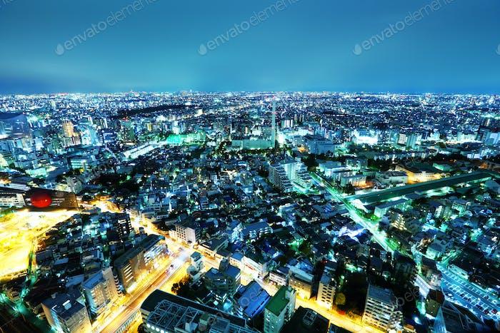 Городской пейзаж Токио