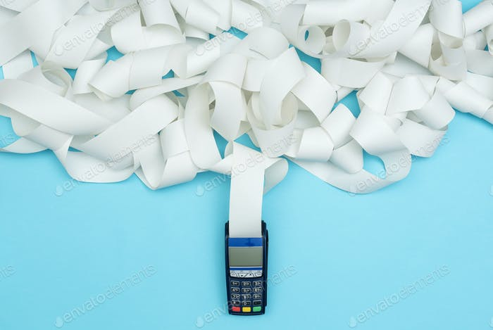 POS terminal with very long receipt