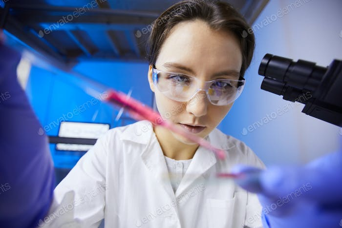 Female Technician in Lab