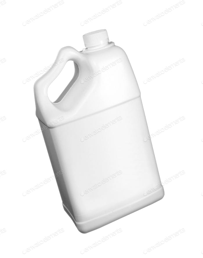White gallon isolated
