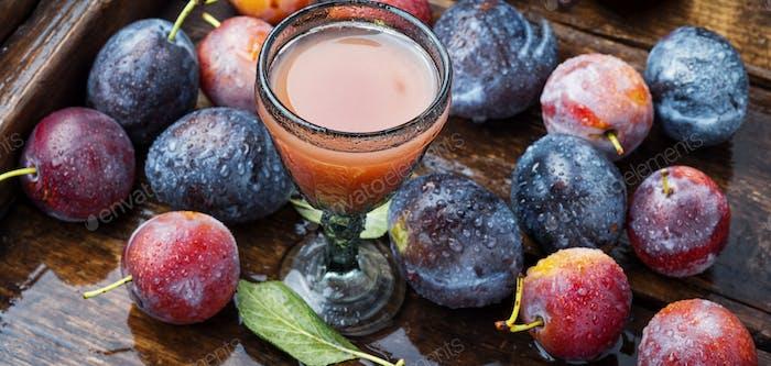 Romanian national plum liquor
