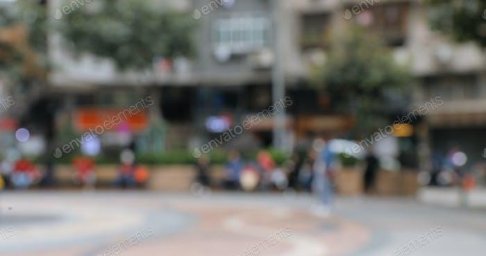 Bokeh der Stadtstraße in Macao