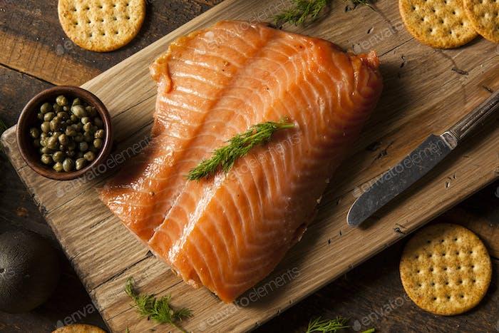 Hausgemachte geräucherter Lachs Vorspeise