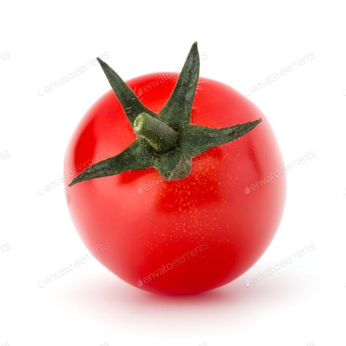 fresh cherry tomato isolated on white background cutout