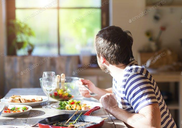 Essen Sie ein Abendessen