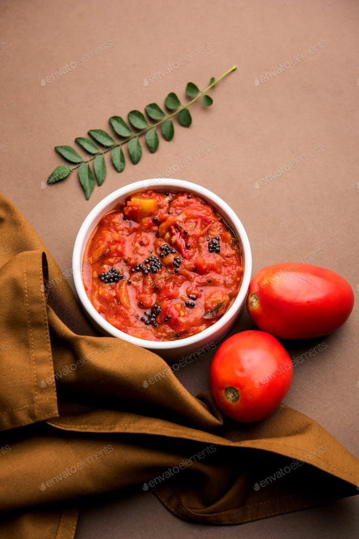 Tomato chutney or sauce