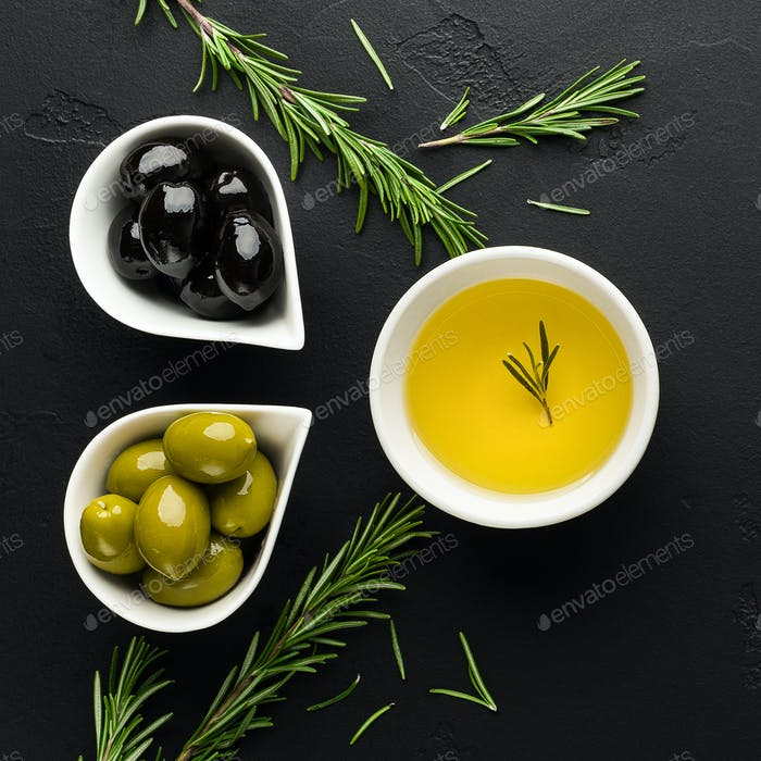 Organic greek products concept