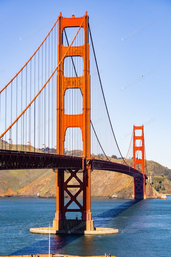 Golden gate bridge on a sunny clear, San Francisco, California