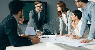 Business meeting and teamwork by business people
