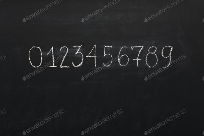 Learning numbers background