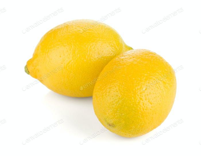 Two ripe lemons