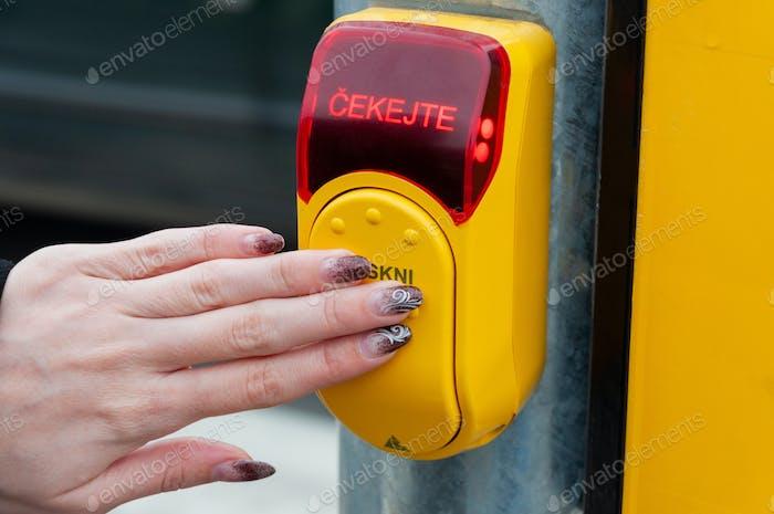 Personal pedestrian button for traffic light