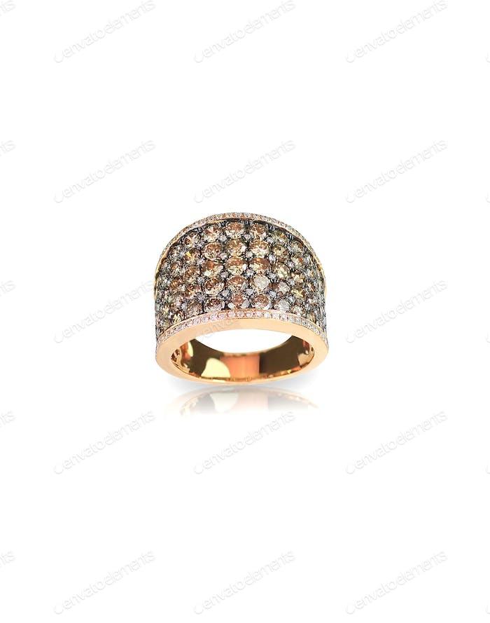 chocolate diamond gold wedding engagement band ring for fashion