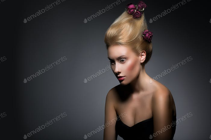 Elegant Lady with Stylish Coiffure