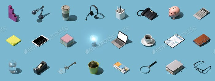 Office and business objects background