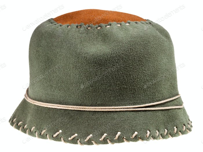 felt green soft cloche hat