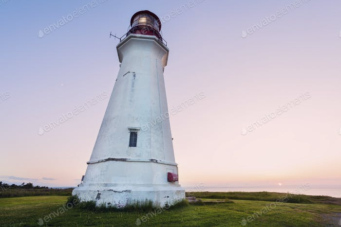 Low Point Lighthouse in Nova Scotia