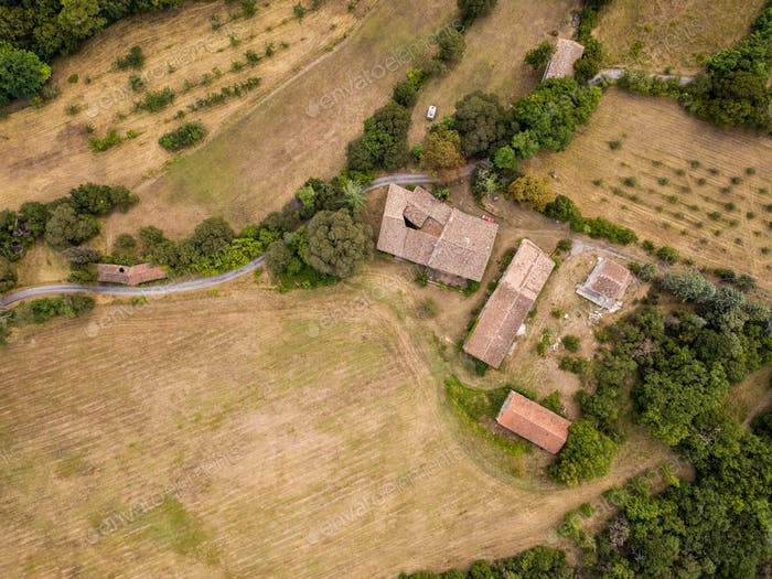 Aerial village Cevennes