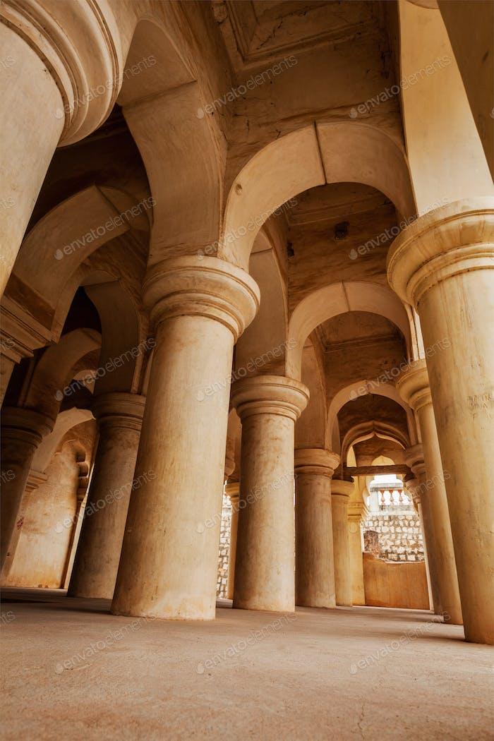Columns in Thanjavur palace
