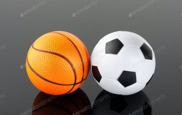 Classic basketball and football
