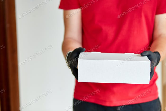 Delivery service under quarantine.