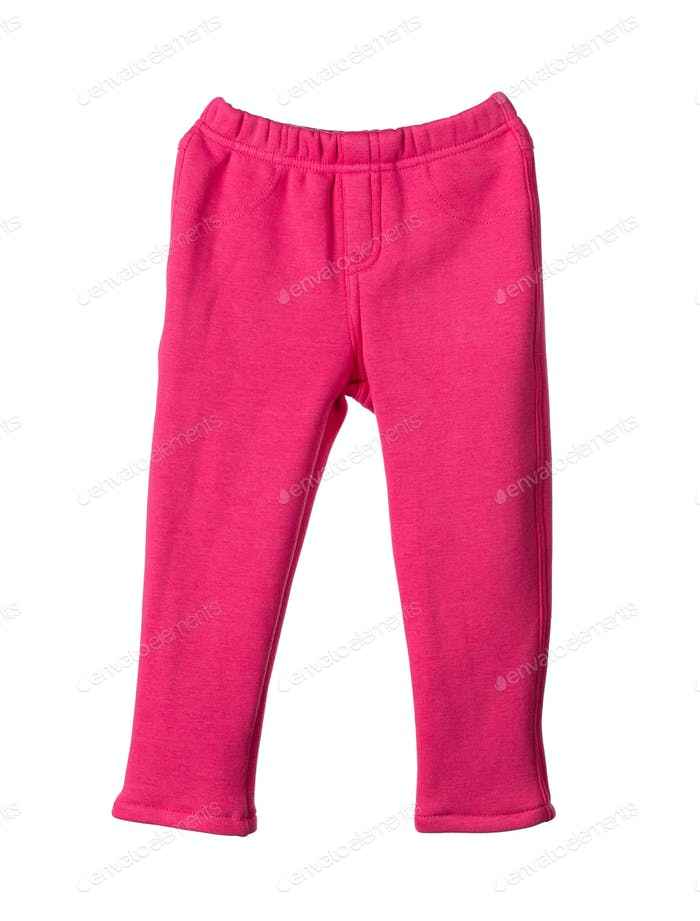 Childrens red pants.