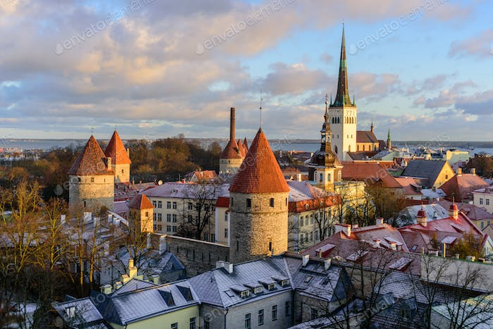 View to Old Town Tallinn from top