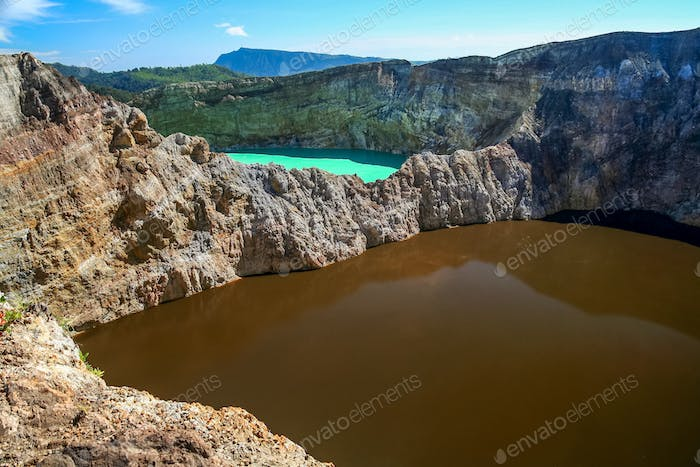 Colorful Kelimutu crater lakes