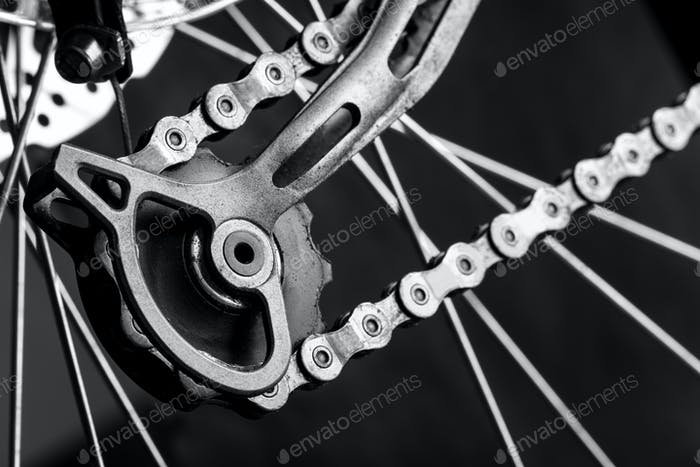 Tensioner gear of a bicycle