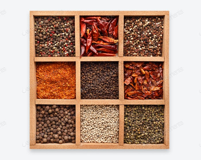 Spices shopwindow concept