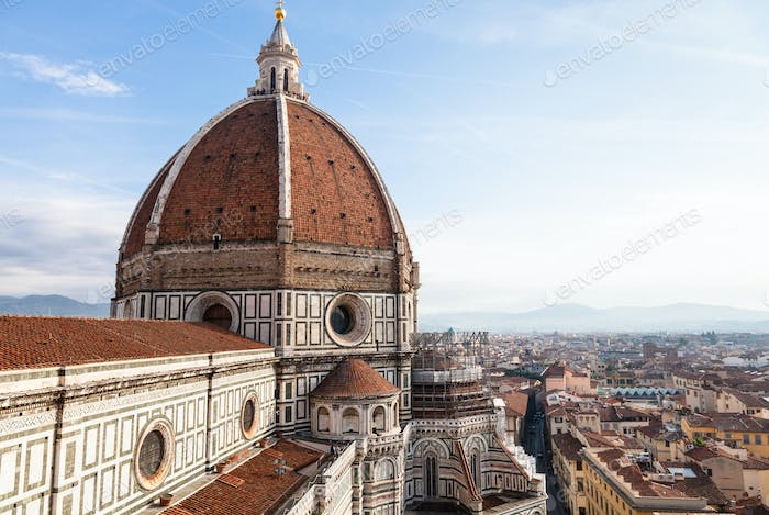 above vew of Cathedral Santa Maria del Fiore
