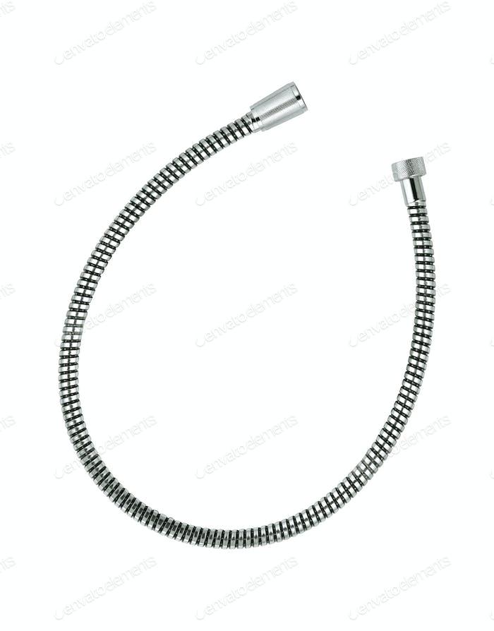 corrugated hose shower Isolated on white background