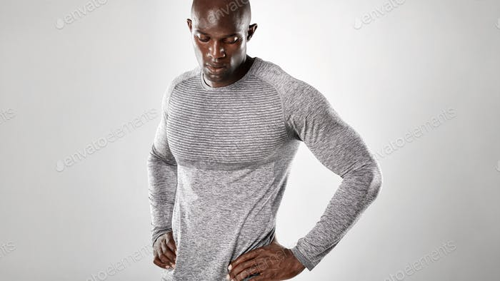 Muscular and strong african male model