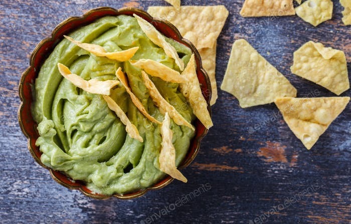 Guacamole traditional Mexican sauce