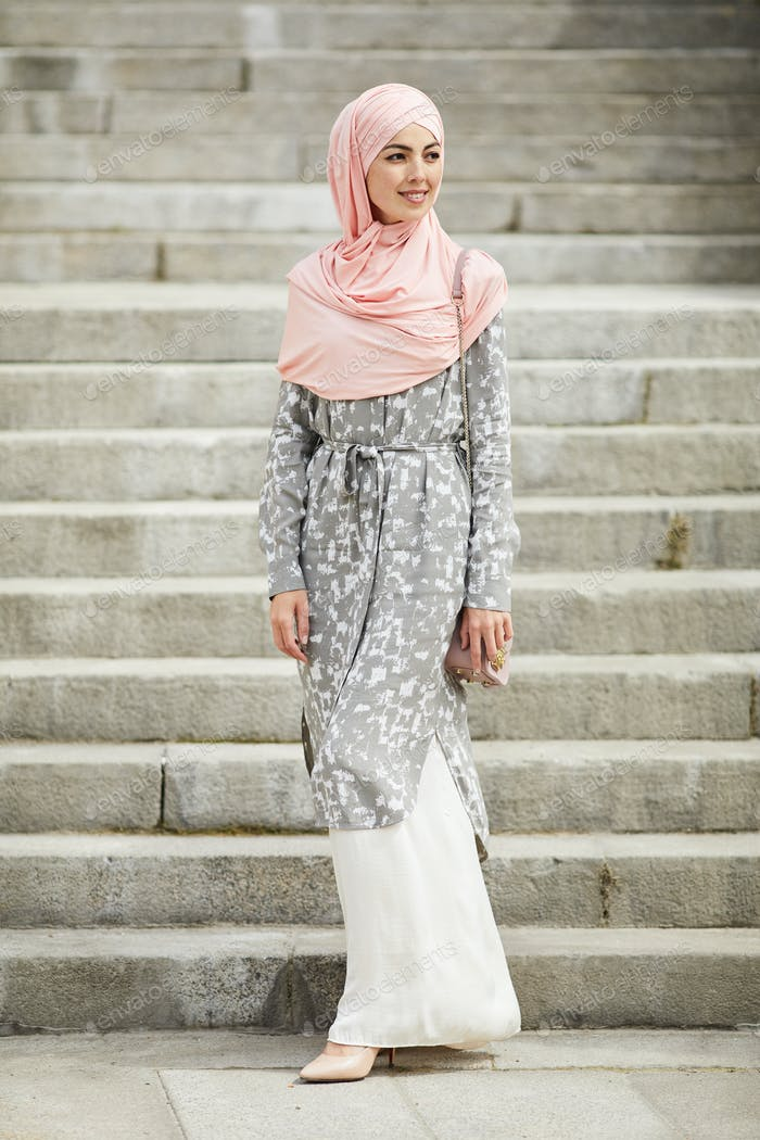 Muslim lady outdoors