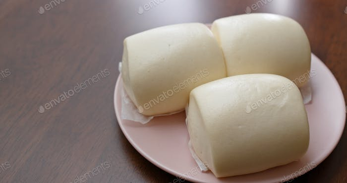 Steamed chinese white bun