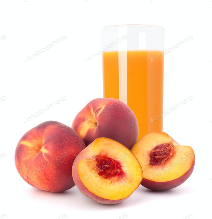 Pfirsichfruchtsaft im Glas
